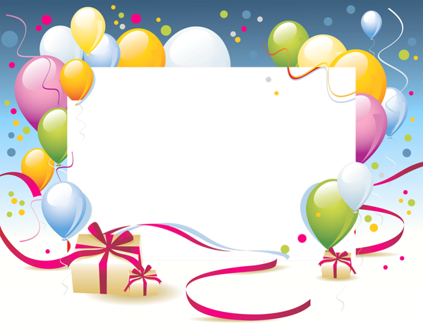 Happy birthday frames and borders png. Pin by gloria andaluz