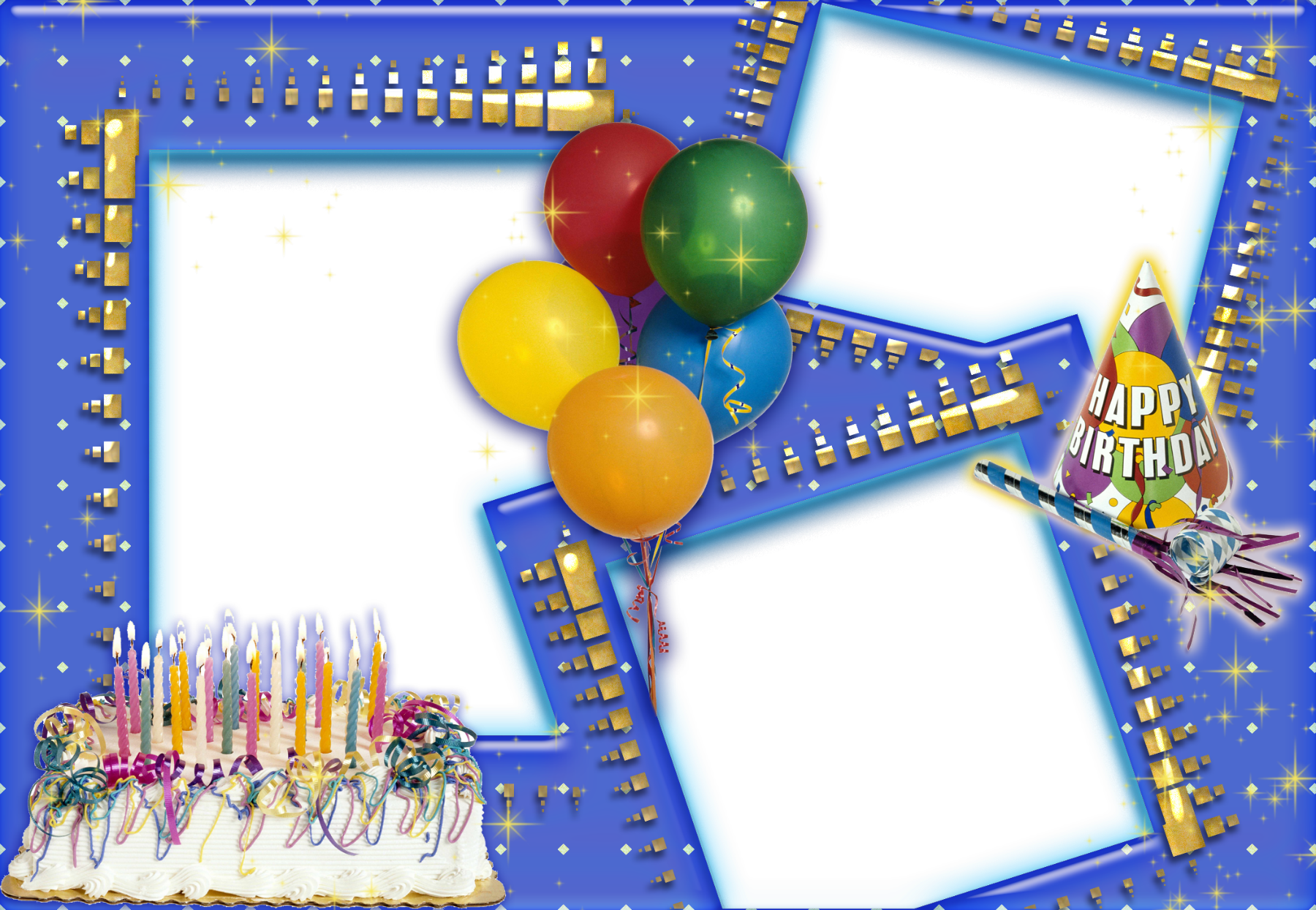 Happy birthday frames and borders png. Efecto de fotos la