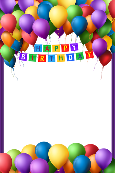 Happy birthday frames and borders png. Transparent frame stationary pinterest