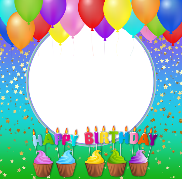 Happy birthday frames and borders png. Transparent photo frame gallery