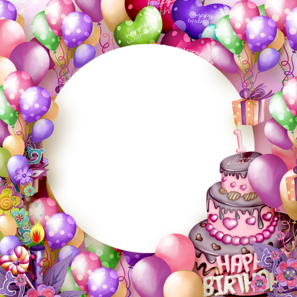 Happy birthday frames and borders png. Kids photo frame latest