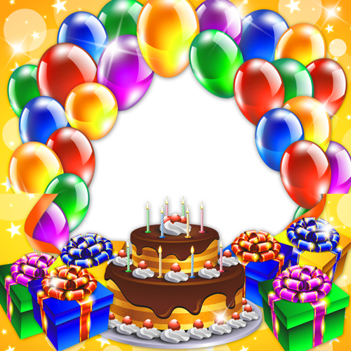 Happy birthday frames png. Create frame with custom