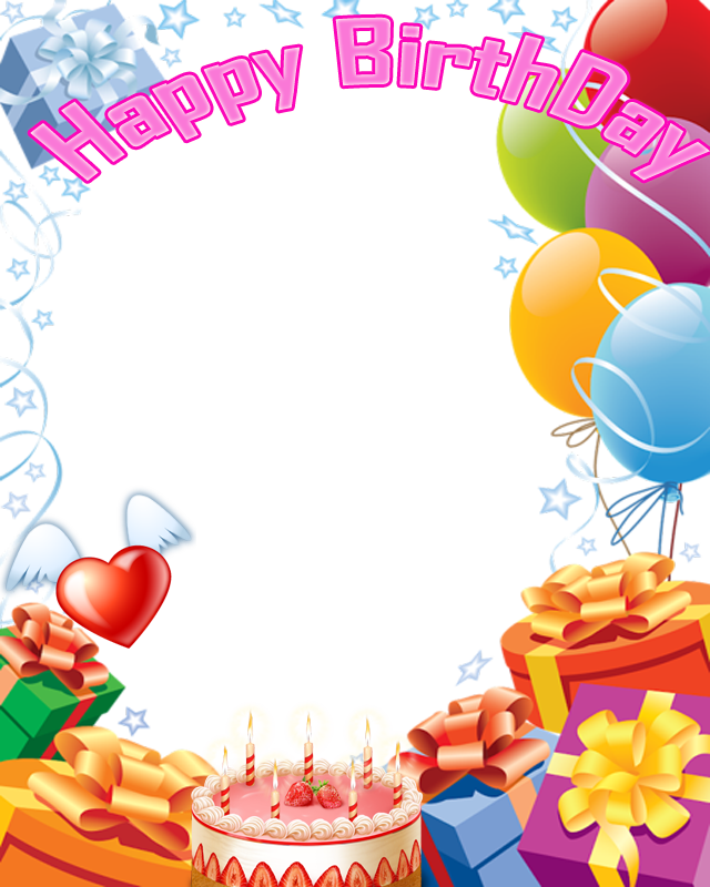 Happy birthday frames png. Collage frame transparent images