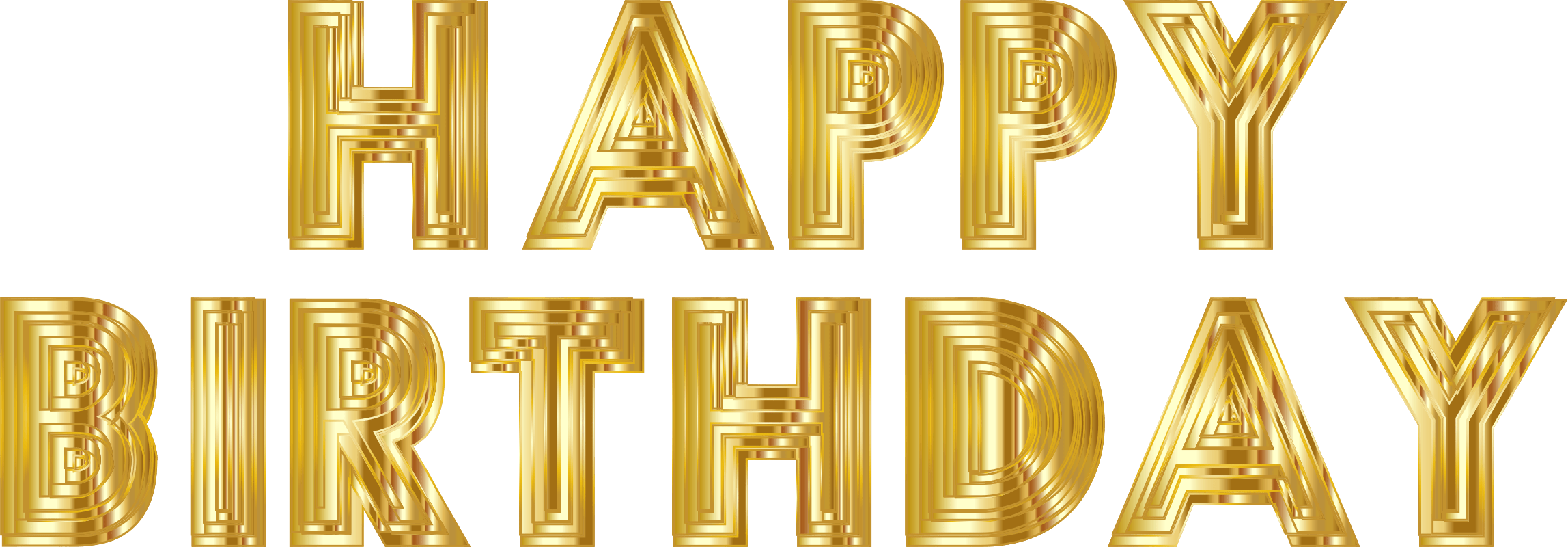 Happy birthday gold png. Transparent stickpng