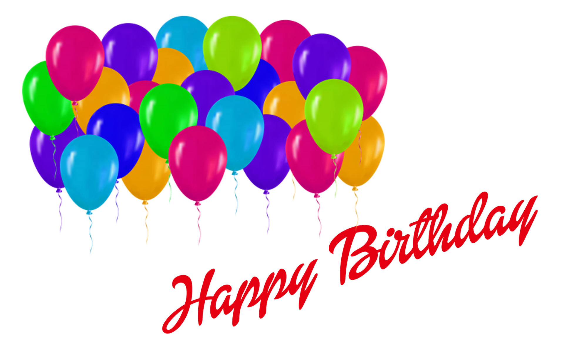 Balloons Names Happy Birthday Images Png PNG