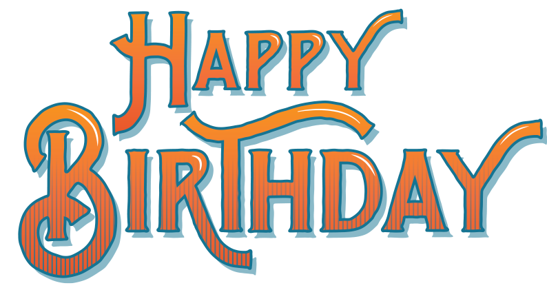 Happy birthday logo png. From all of us