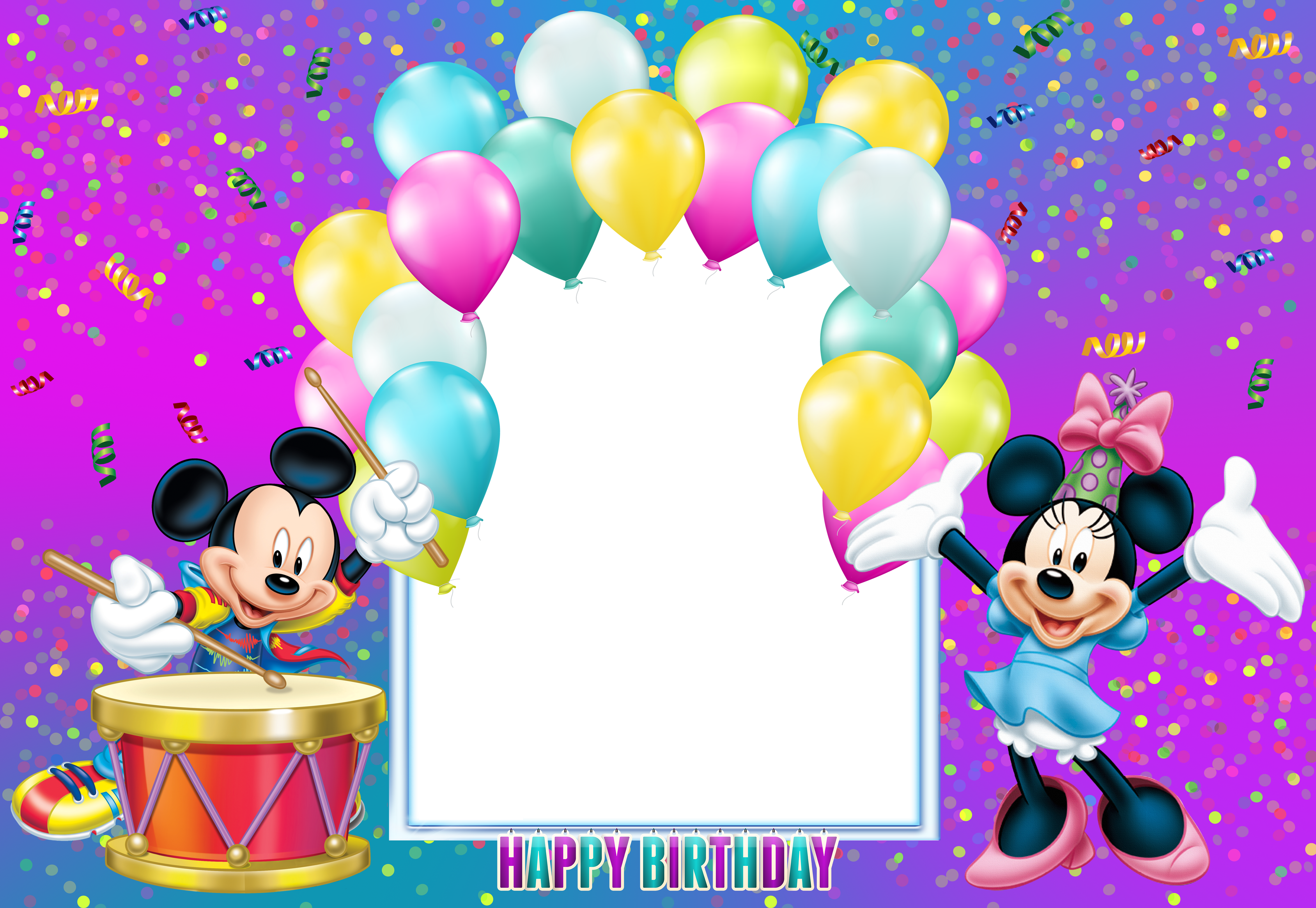 Happy birthday mickey mouse png. Transparent kids frame gallery
