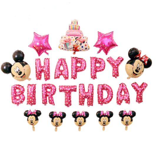 Happy birthday mickey mouse png. Minnie cake stars balloon