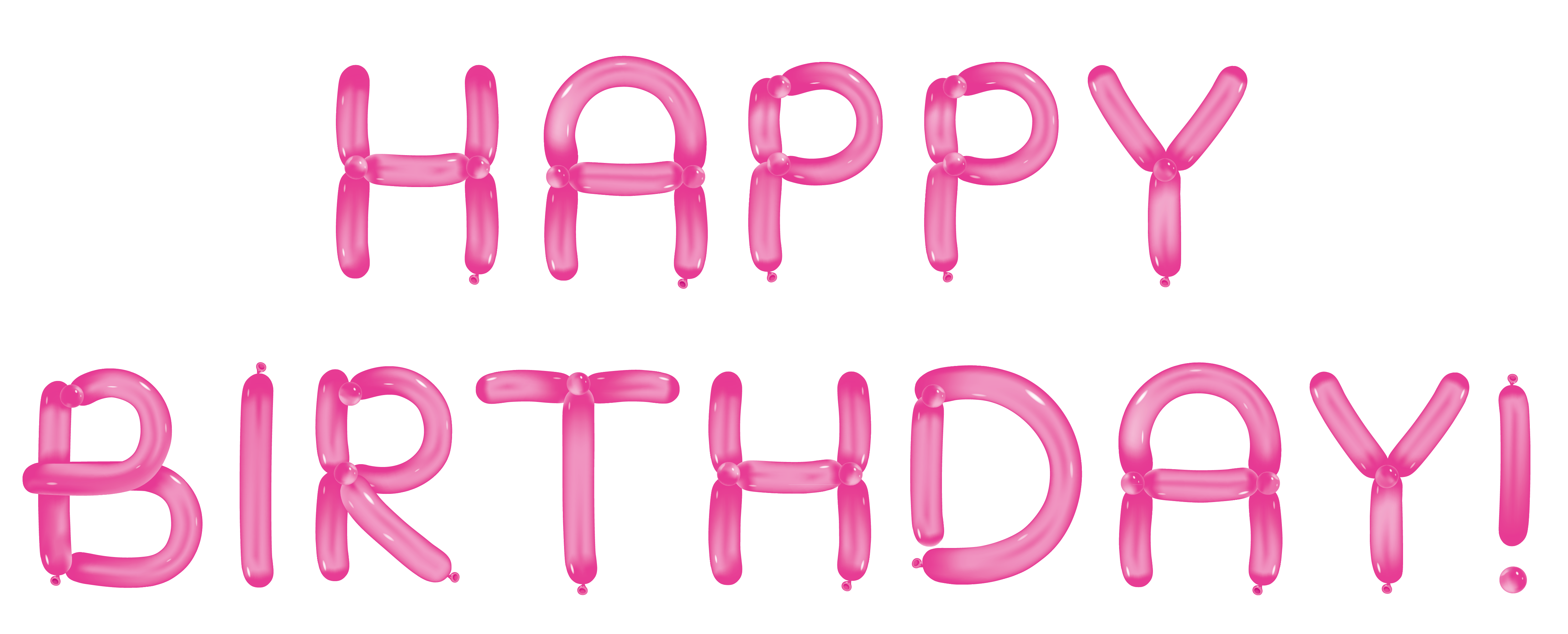 Happy birthday pink png. With balloons transparent clipart