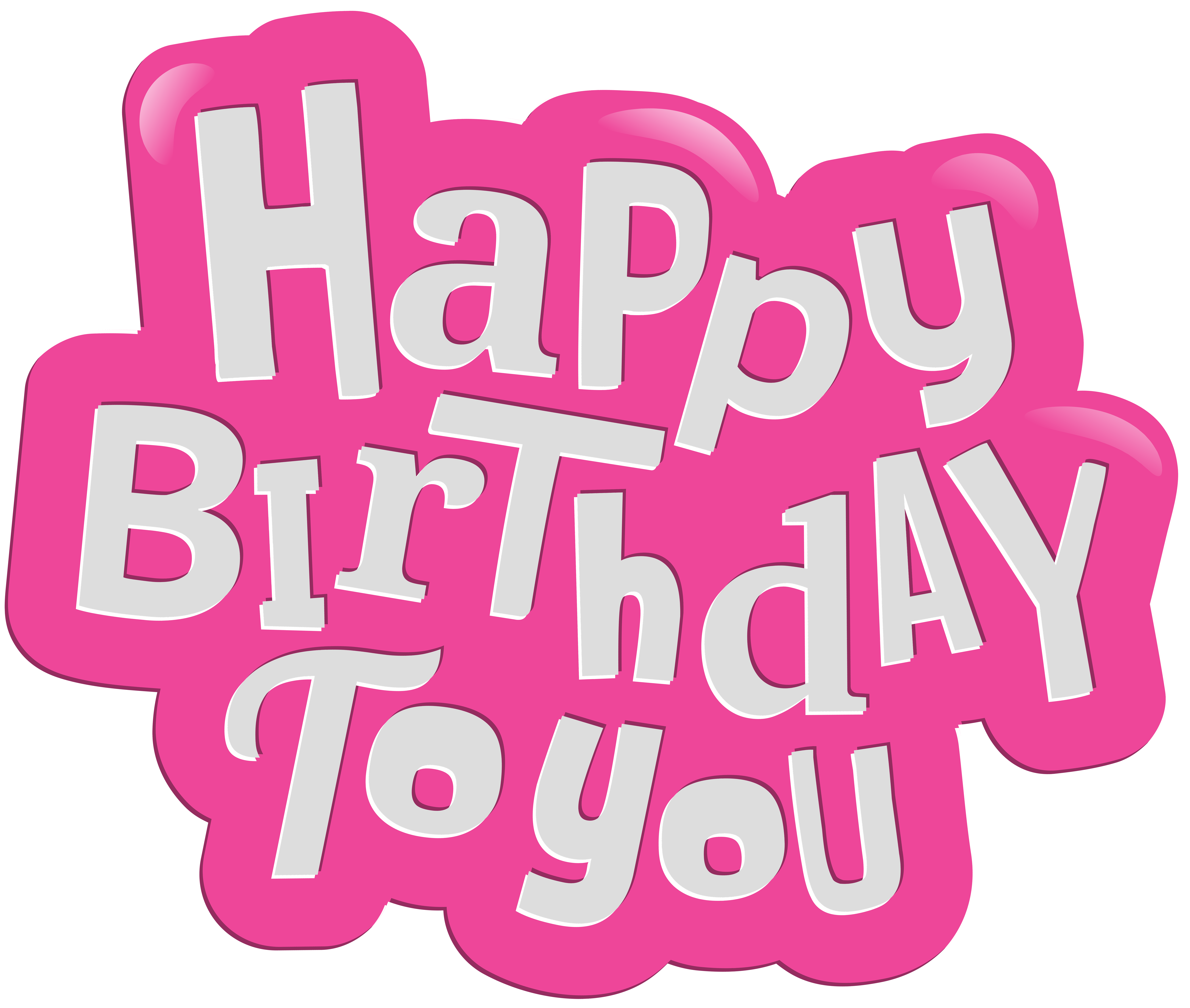 Happy birthday pink png. To you clip art