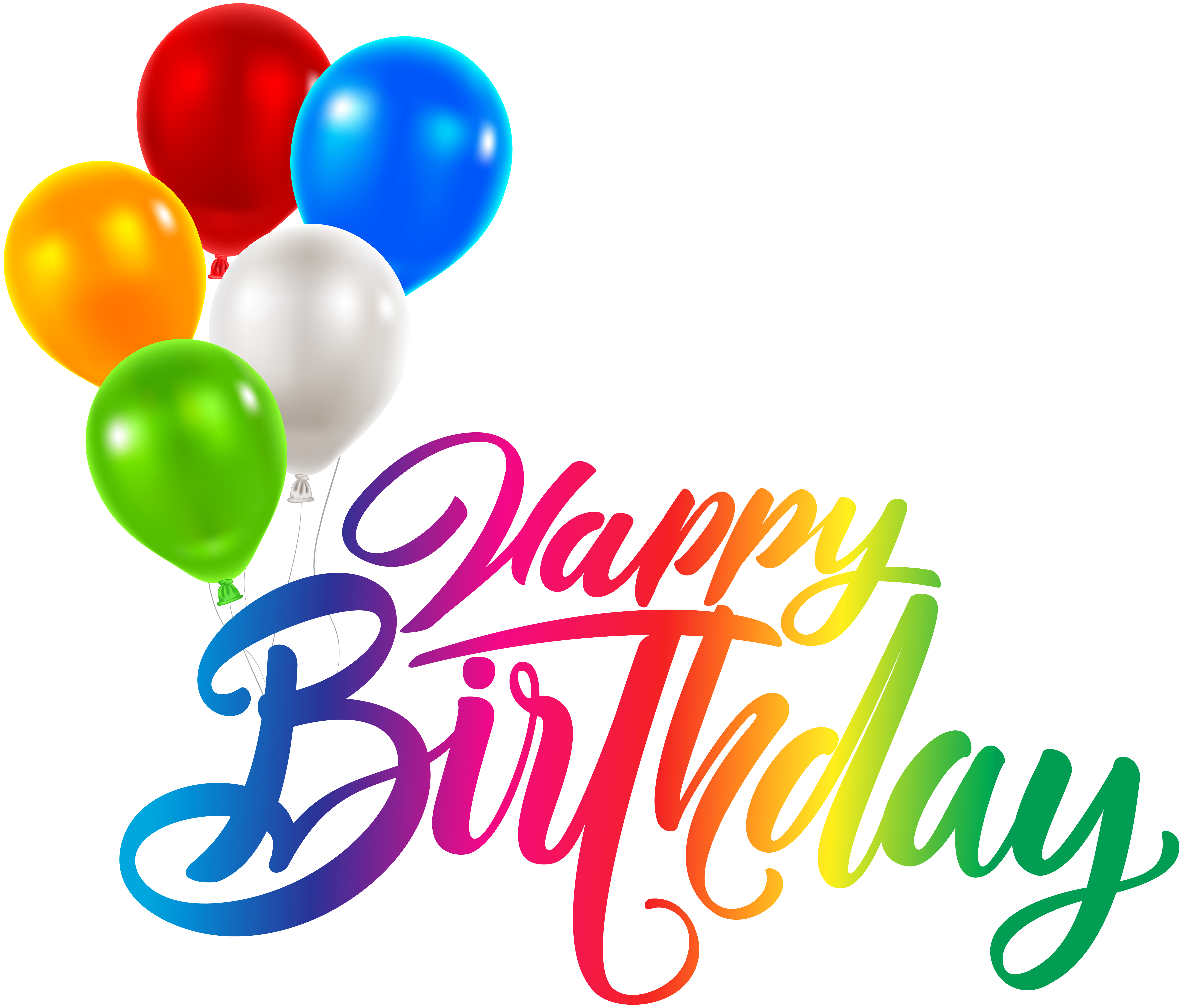 Happy transparent clip art. Birthday png images vector