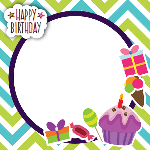 Happy birthday png frames. Hbd special photo frame
