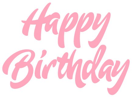Happy birthday png pink. Letter for father online