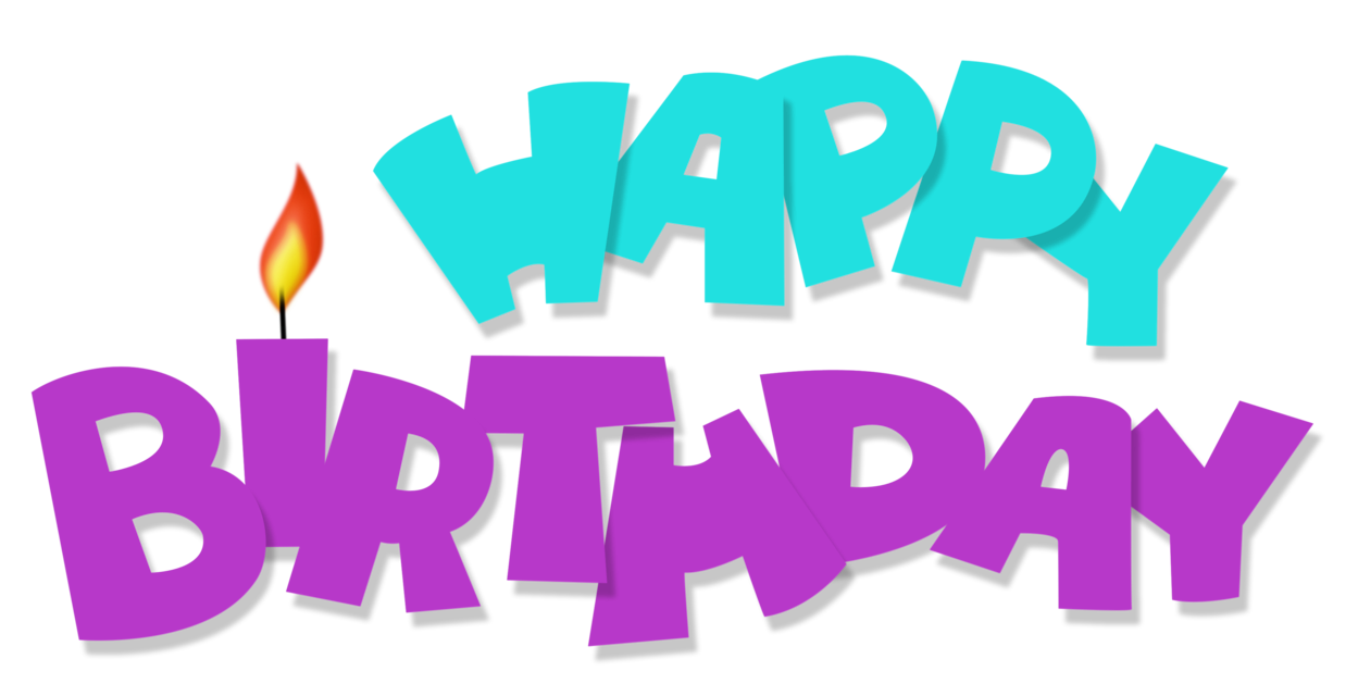 Happy birthday png pink. Transparent blue and purple