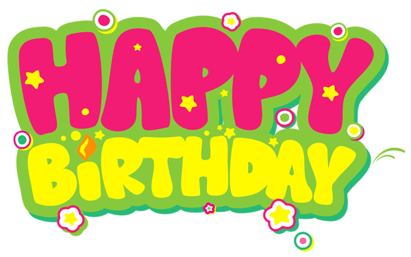Happy birthday png pink. Yellow and clipart picture