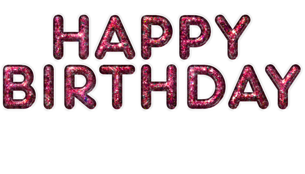 Happy birthday png pink. Transparent images all clipart