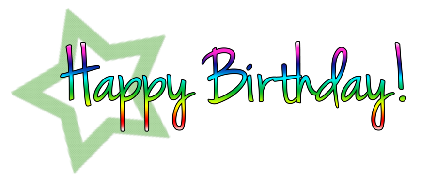 Happy birthday png text. Free download clip art