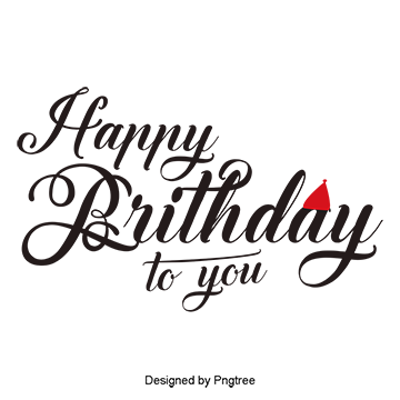 Happy birthday png text. Images download resources with