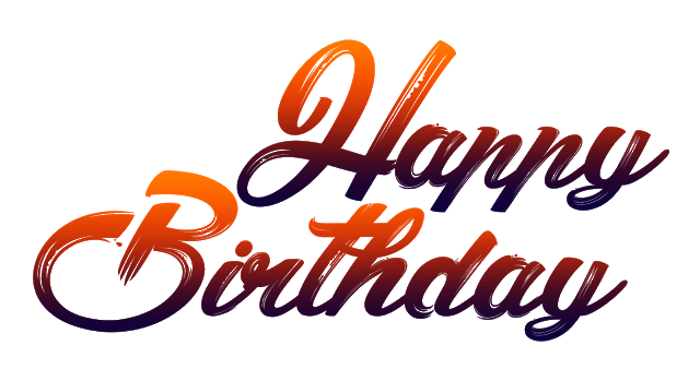 Happy birthday png text. New fonts free download
