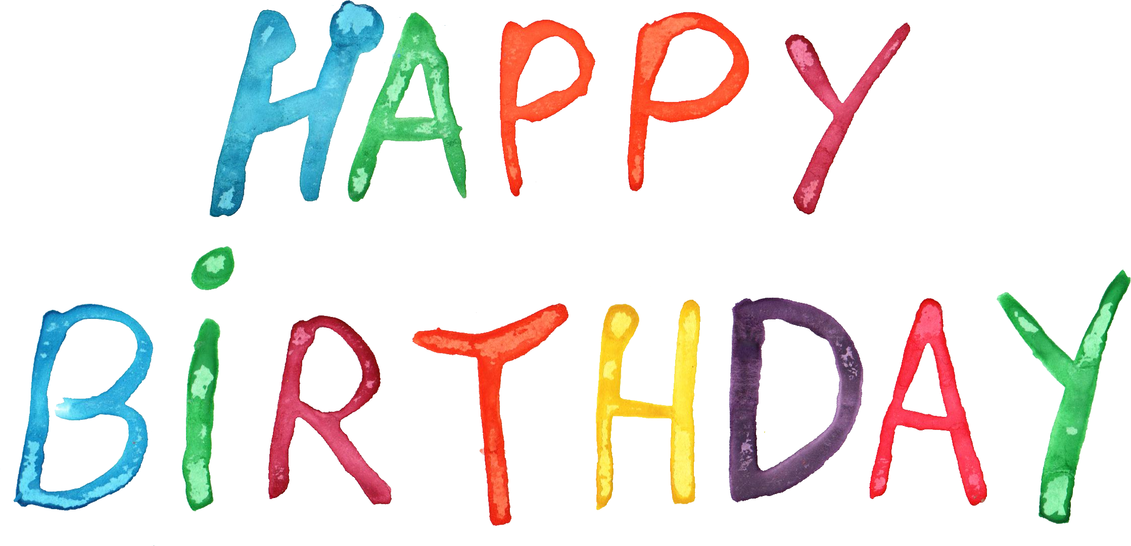 Happy birthday png transparent. Watercolor onlygfx com