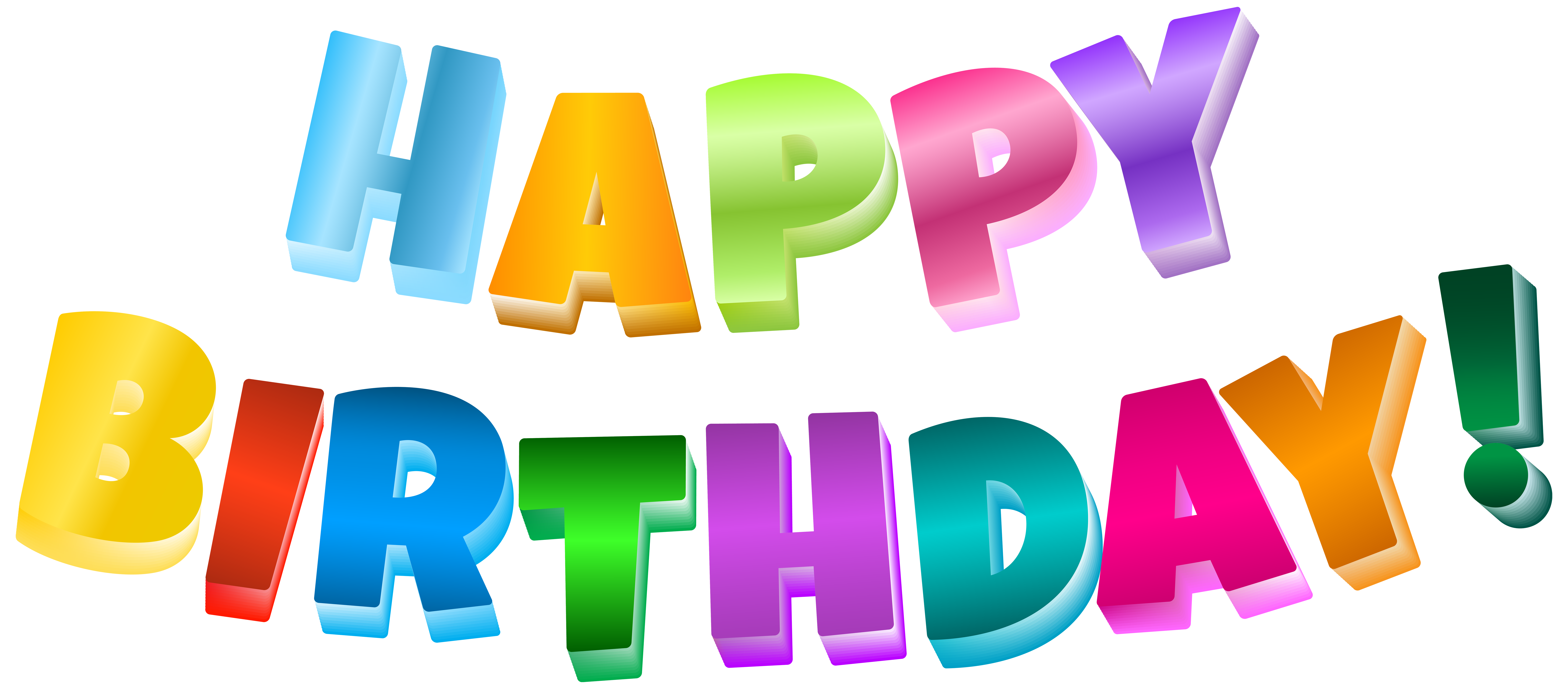 Multicolor clip art image. Happy birthday png transparent background svg library library