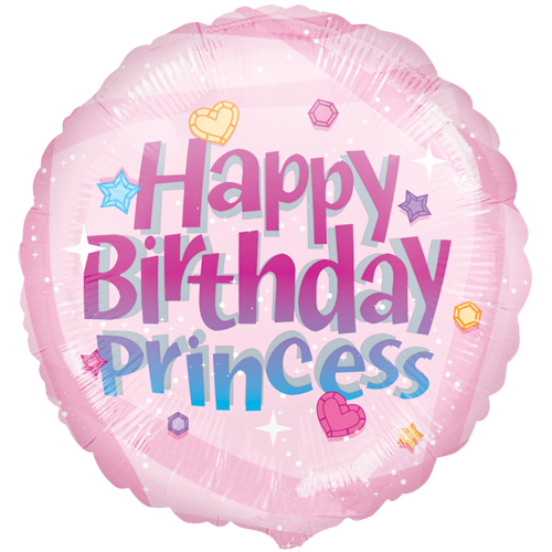 Happy birthday princess png. Foil balloon