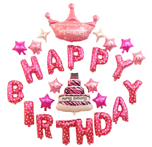 Happy birthday princess png. Crown cake balloon light