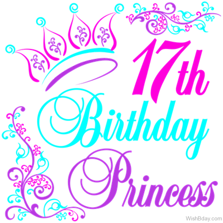 Happy birthday princess png. Th wishes seventeenth