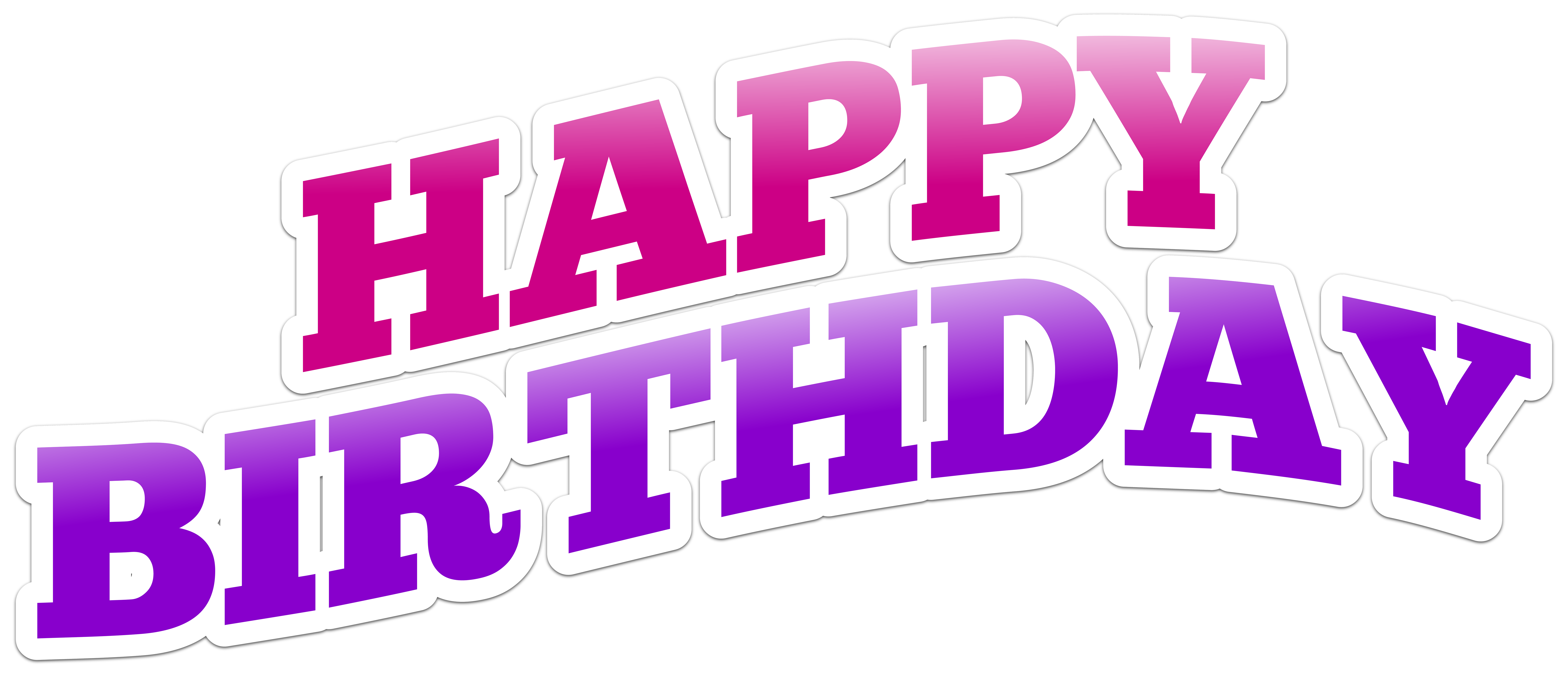 Birthday text png. Happy clip art image