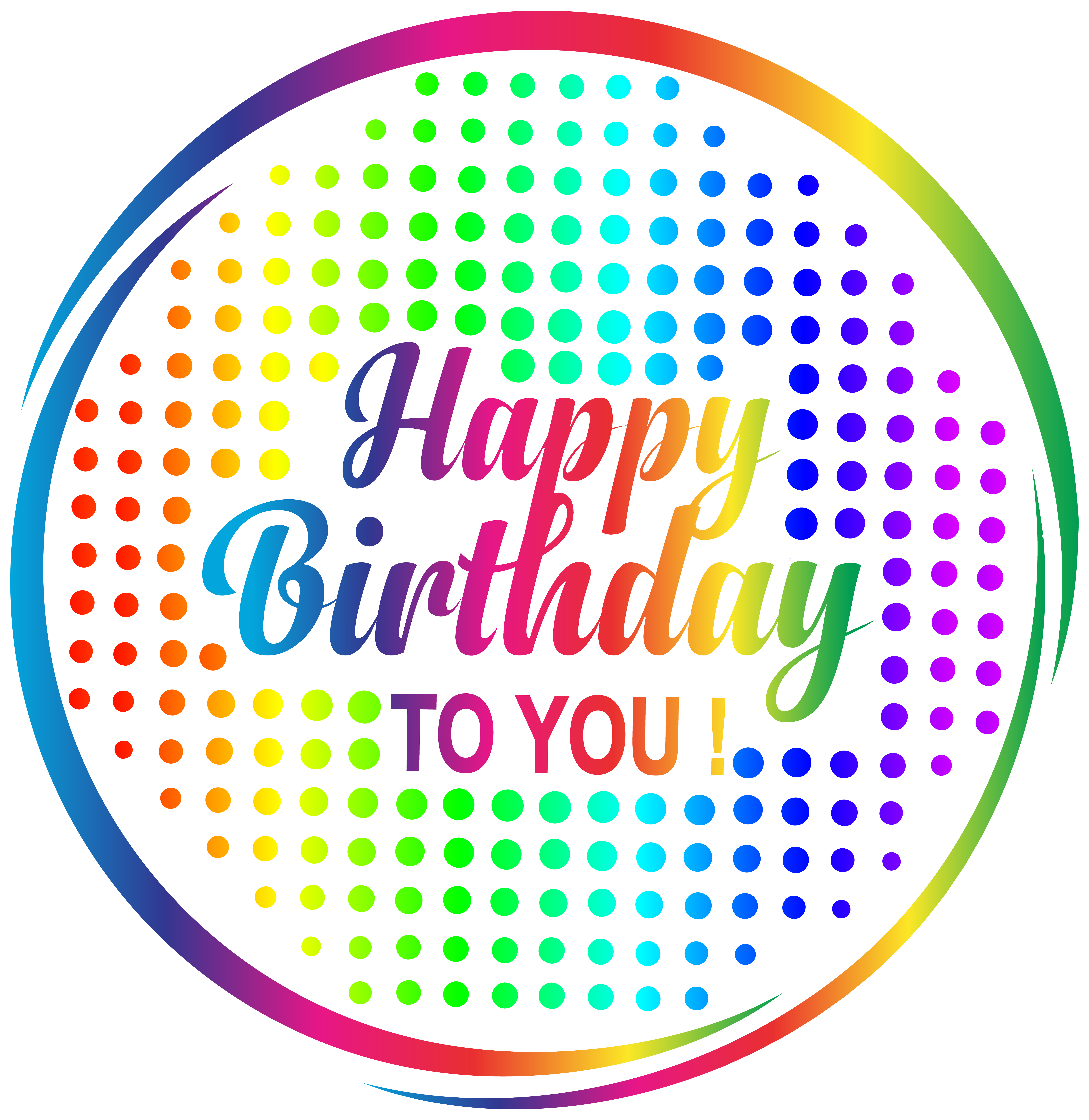 Happy birthday to you png. Multicolour transparent clip art