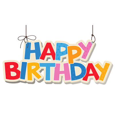 Happy birthday logo png. Birthdays transparent images page