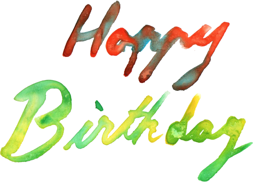Happy birthday transparent png. Watercolor onlygfx com