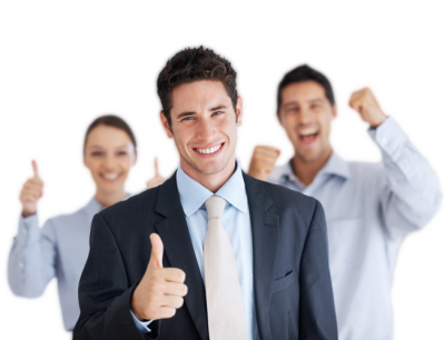 Happy business people png. Download free transparent image