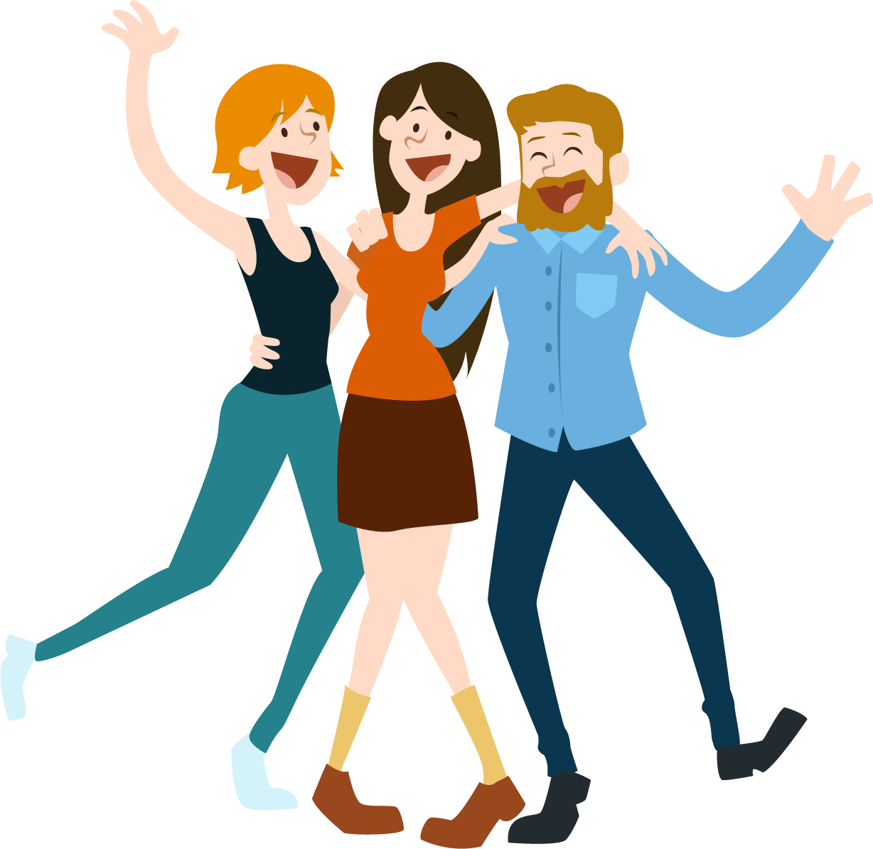 Happy cartoon png. Person transparent free images