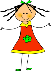 Happy clipart. Girl free