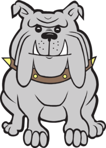 Happy clipart bulldog. Gray clip art at