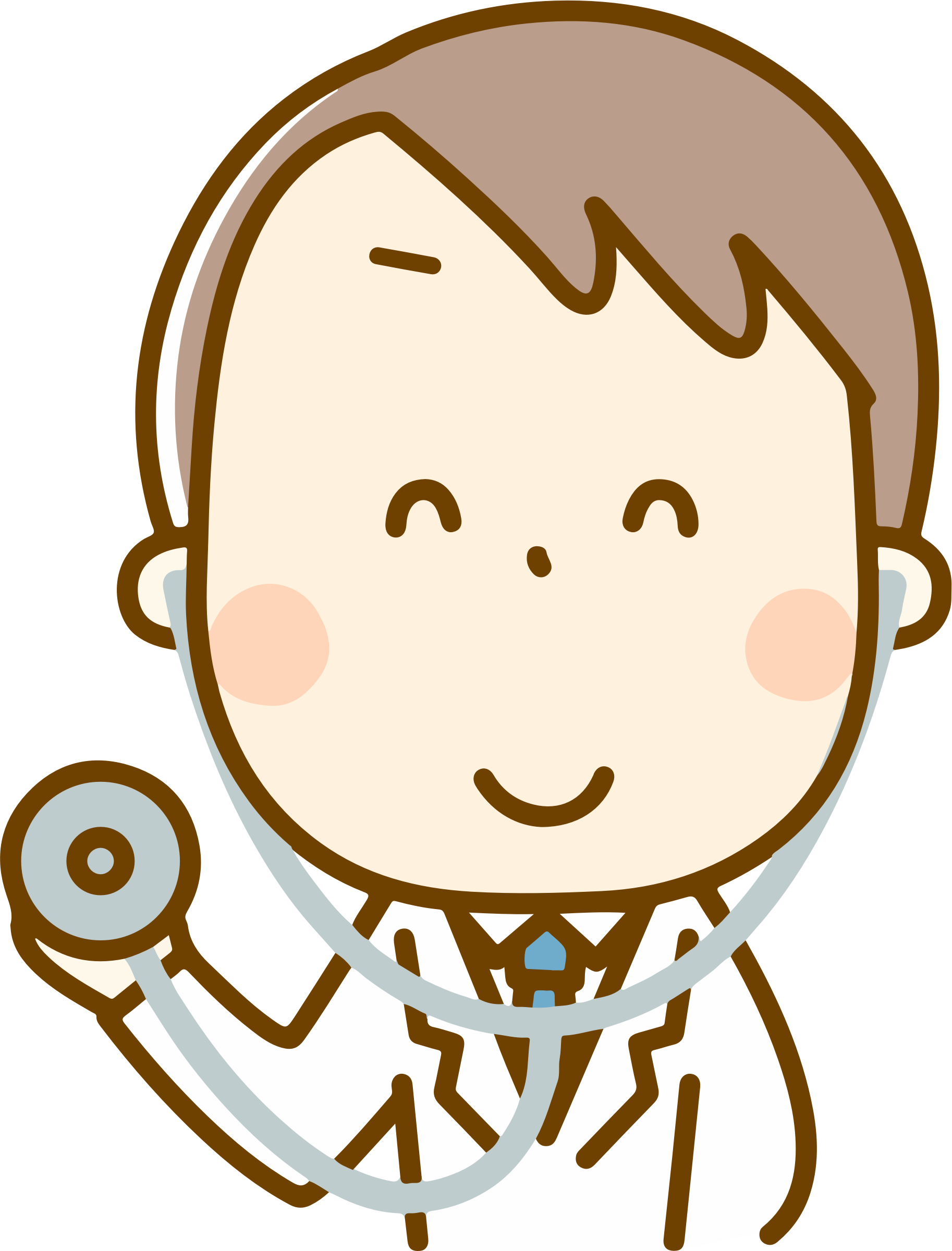 Happy clipart doctor. Big image png