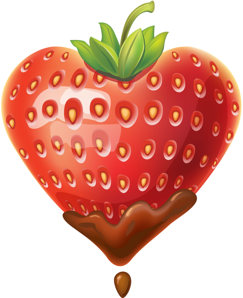 Happy clipart strawberry. Dipped in chocolate clip