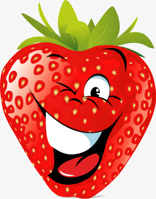 Happy clipart strawberry. Cheerful strawberries cartoon png
