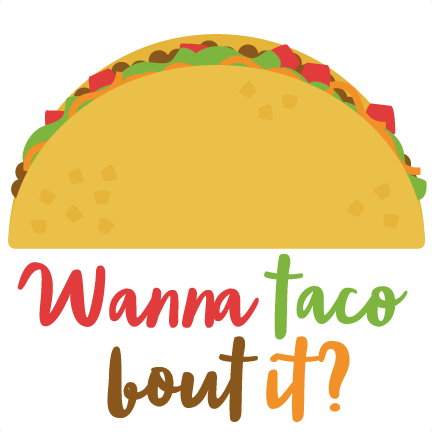 taco clipart outline