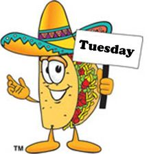 Happy clipart taco. Tuesday