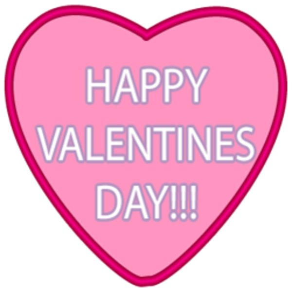 Happy clipart valentine. S day pink heart