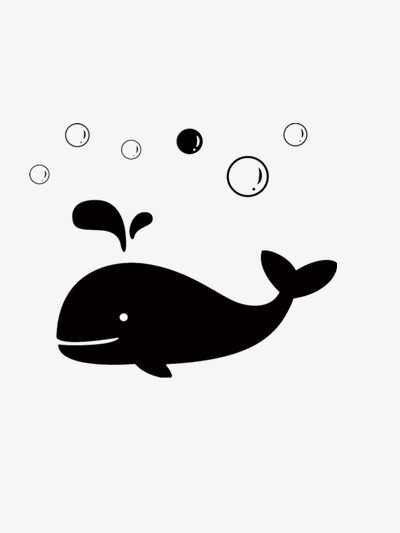 Happy clipart whale. Black bubble sea png