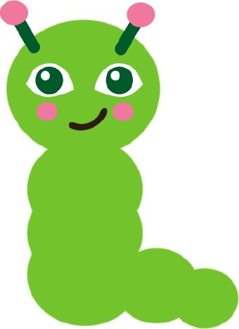 Clip Art Of A Happy Green Caterpillar With Pink Antennae | Green ...