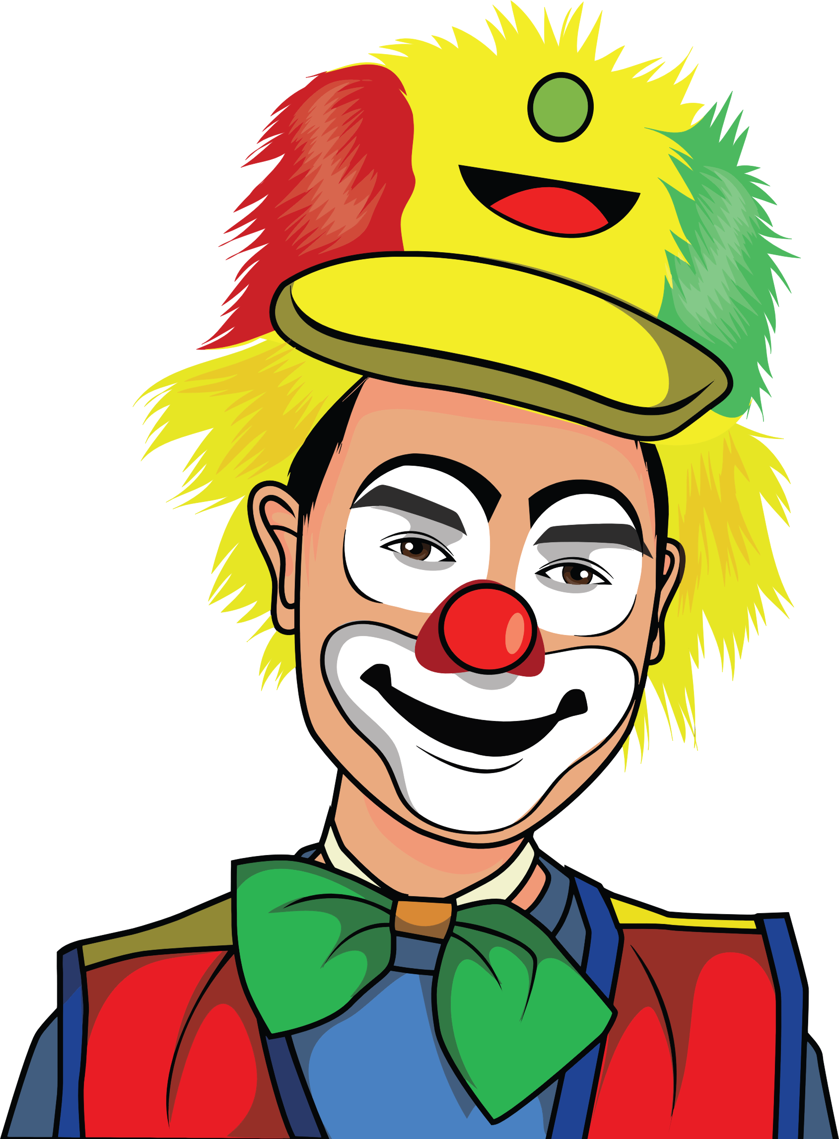 Happy clown png. Clipart illustration big image