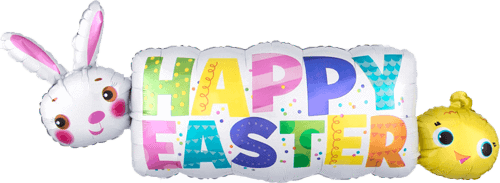 Happy easter banner png. Image