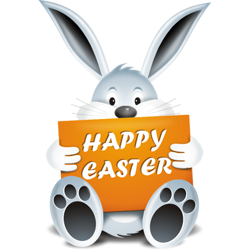 Happy easter bunny png. Image royalty free stock