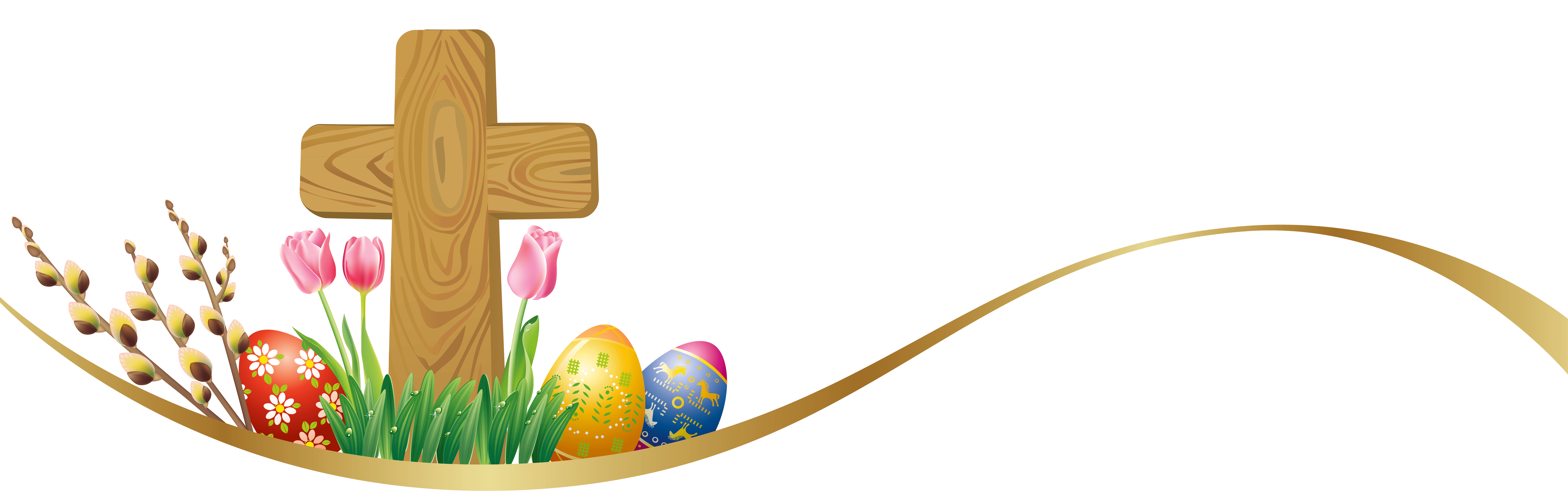 Happy Easter Cross Transparent Png Clipart Free Download Ya