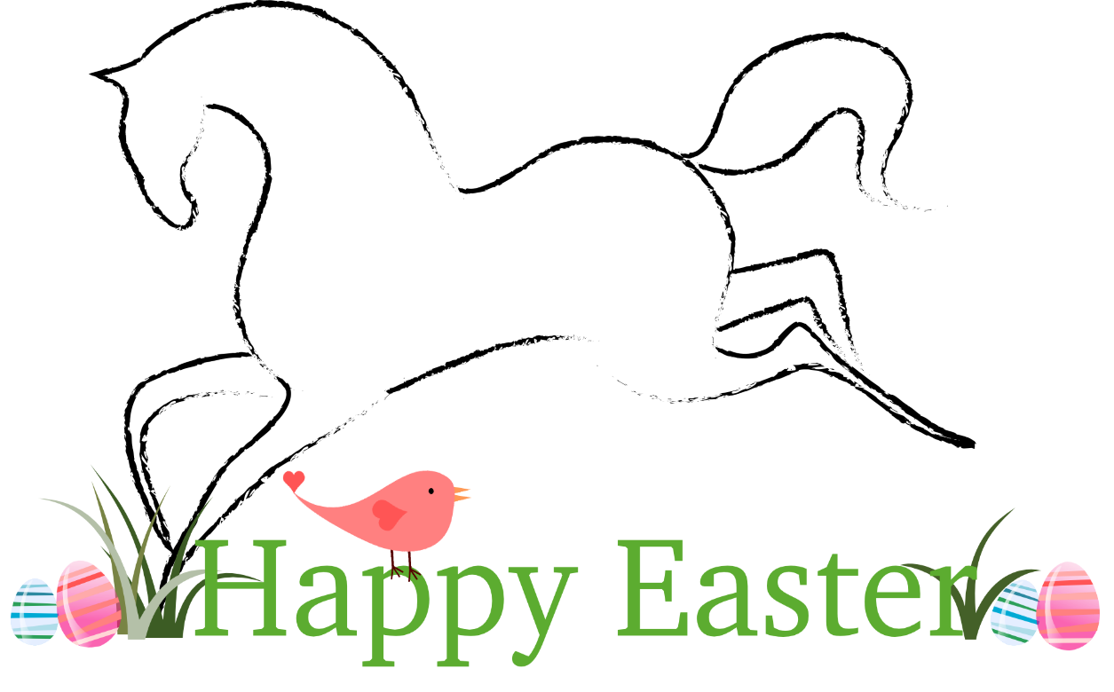Happy easter clipart text. Free horse personal and
