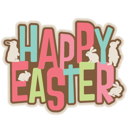 Happy easter clipart transparent. Words png images